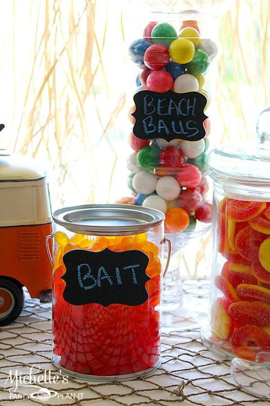 Fun ideas for candy at a Hello Summer Surf Party found via Kara's Party Ideas