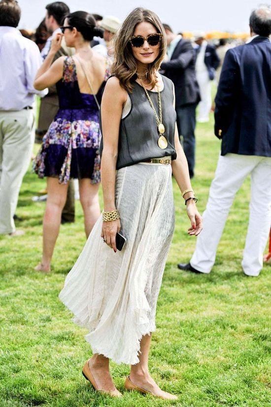 cream maxi skirt... #summer