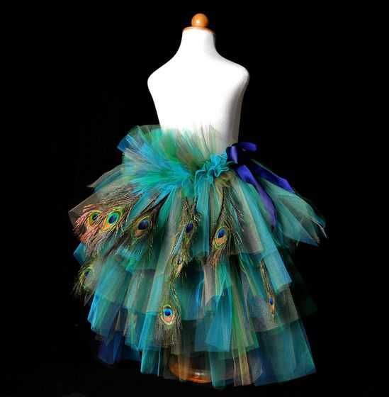 Adult Peacock Feather Bustle Tutu...Halloween Costume, Costume Party, Mardi Gras . . . GOLDEN PEACOCK with Feathers. $100.00, via Etsy.