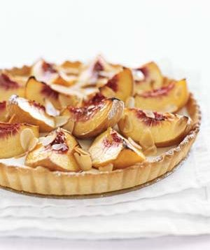 Peach & Sour Cream Tart
