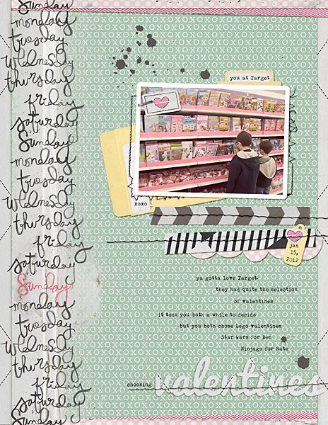 cute scrapbook page #scrapbook
