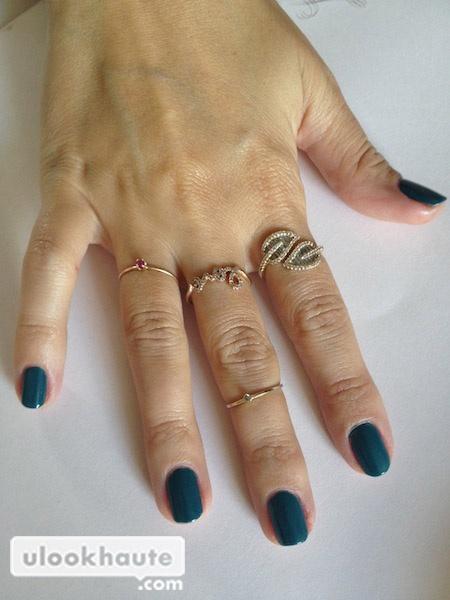 american apparel green nail polish