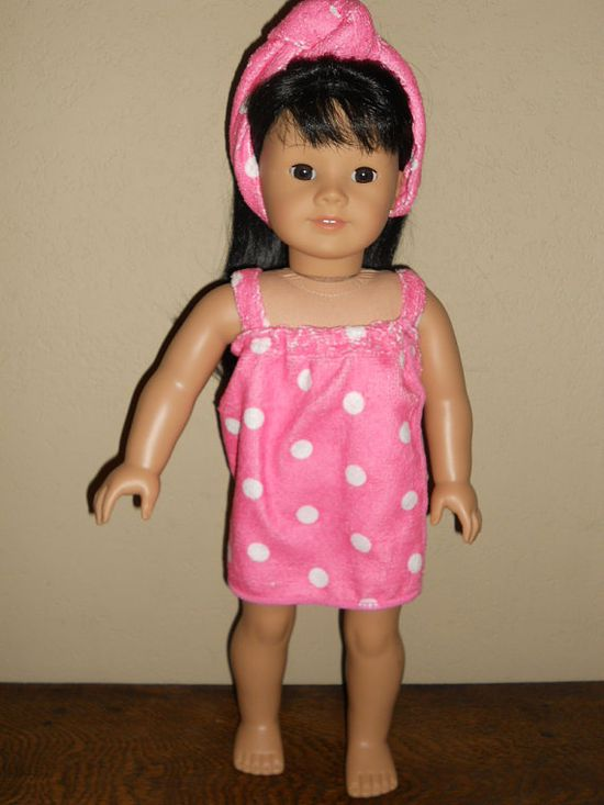 18 Inch American Girl Doll Clothes Bath Time Wrap by TCsTreasures, $8.00