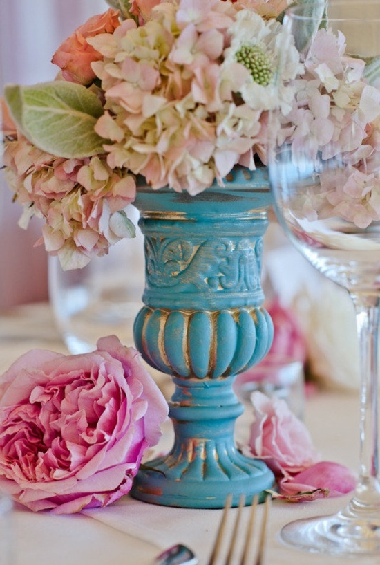 Pretty Turquoise Urn