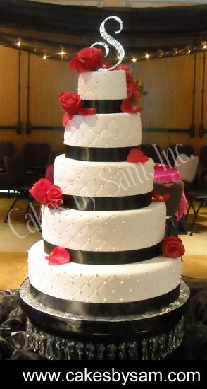 RWB wedding cakes