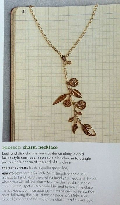 Beautiful charm necklace tutorial