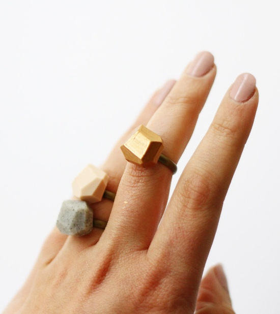 rose gold geo ring / AMM Jewelry