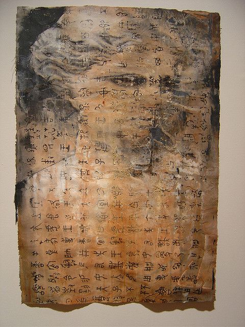 Amie Oliver, charcoal, ink, and acrylic on handmade Korean paper