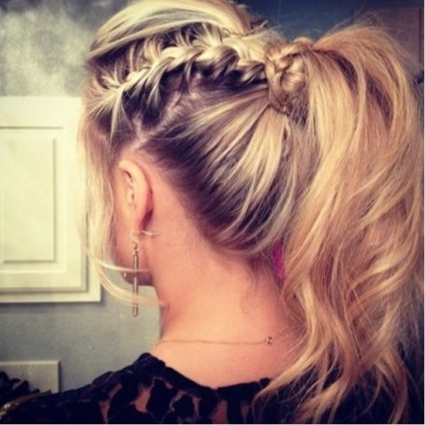 braid and ponytail!