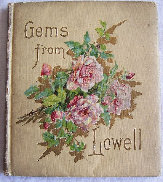 Antique book with roses