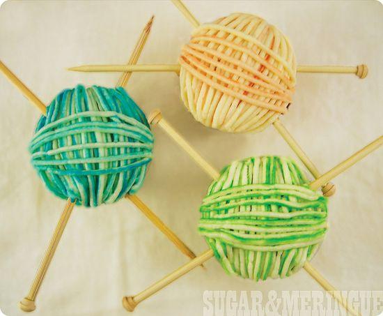 Yarn cupcakes.