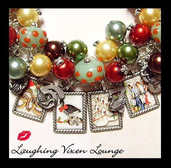 Christmas Jewelry - Holiday Jewelry - 12 Days Of Christmas Charm Bracelet - Christmas Bracelet - Holiday Bracelet.