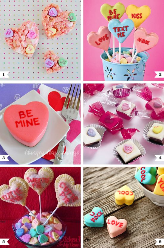Conversation heart recipes for Valentine's Day
