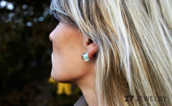 The Enamor Turquoise Handmade Earrings from 27jewelry.