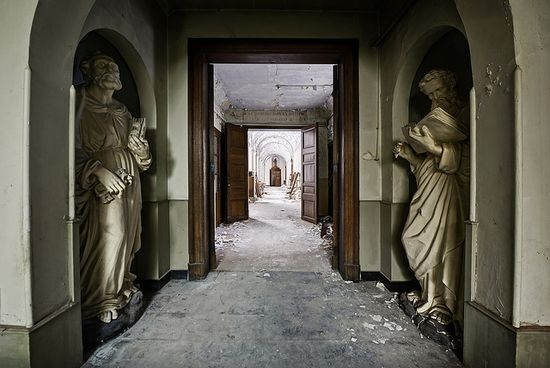 I will lead her into solitude and I speak to her heart. Abandoned monastery