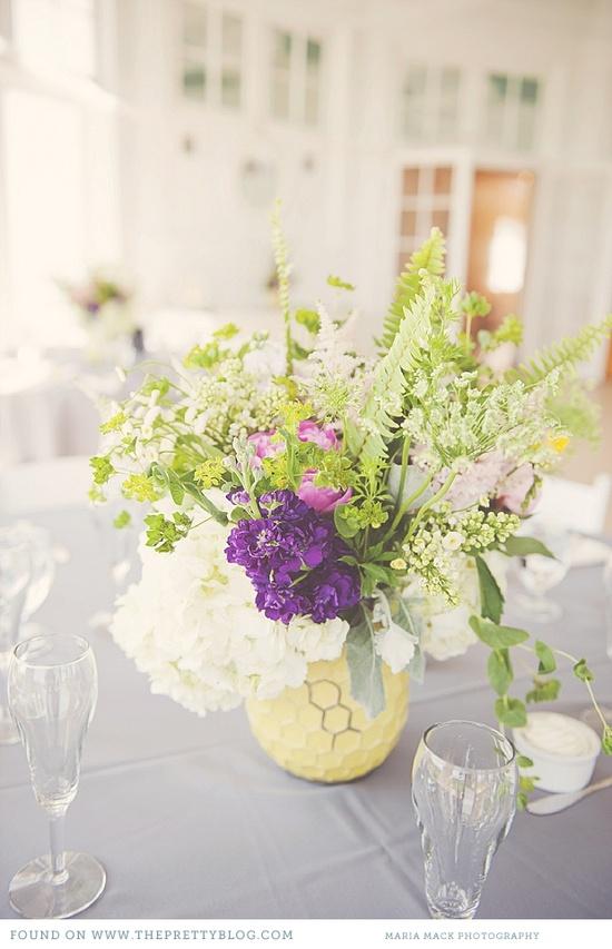 Pastel flower arrangement. Maria Mack Photography.