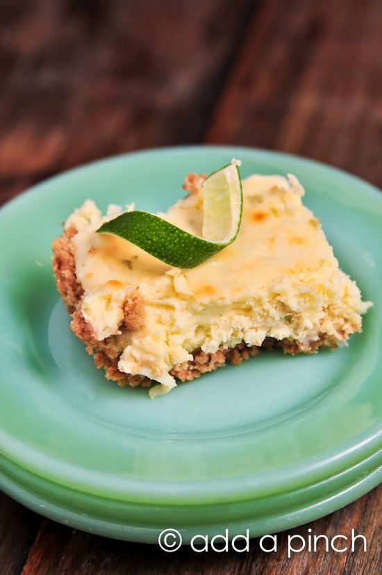 Coconut- Lime Cheesecake Bars