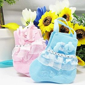 Lovely Baby Shoes Favor Bag - Set of 12 (More Colors)