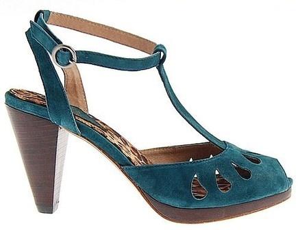 teal vintage shoes