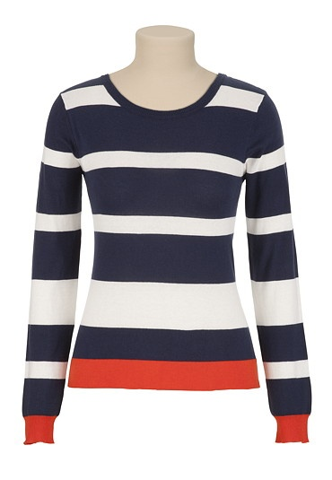 Colorblock Striped Sweater available at #Maurices