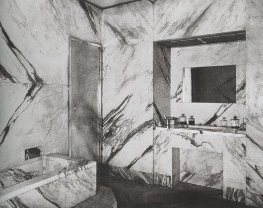 Bathroom in Jean-Michel Frank's Apartment, ca 1925, Photo by Man-Ray