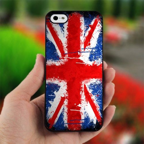 #painting #union jack flag - Design for #iPhone #4/4S Black #Case