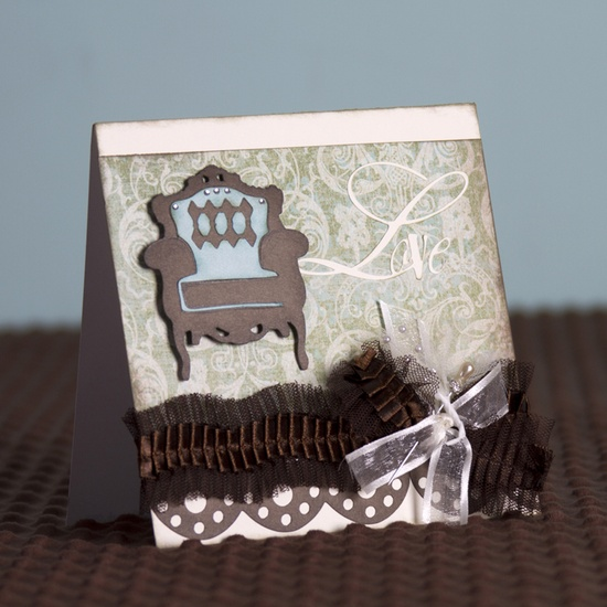 Make this Love Chair Card with the Sophisticated cartridge! #cricut