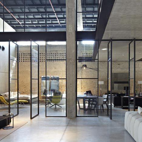 * B Italia Showroom in Tel Aviv, by Pitsou Kedem.