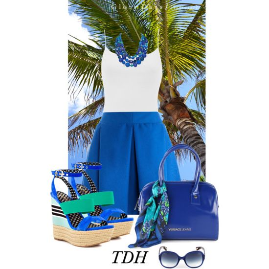 Summer Blues by talvadh on Polyvore