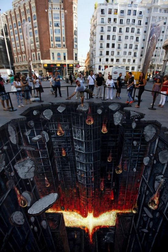 Batman chalk art
