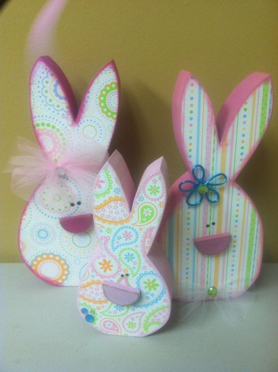 Bunny Heads Wood Crafts