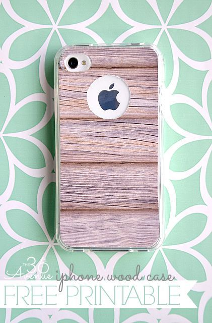 DIY iPhone Wood Case {Free