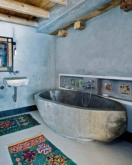 bathtub and boho rugs