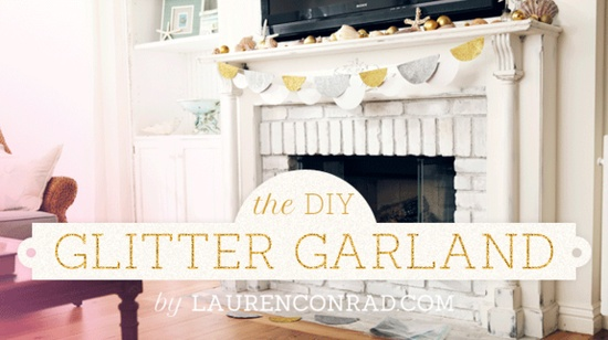 DIY glitter garland #holiday #decorations