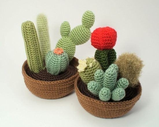 Cactus Collections eight realistic PDF CROCHET by PlanetJune, $12.50