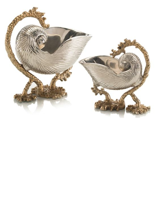 Luxury Christmas Gifts Ideas, Designer Cast Nickel & Brass Nautilus Decoratives, Trending Hollywood Interior Design Ideas, For Luxury Homes, Living Rooms, Bedrooms, Dining Rooms, Bathrooms. Over 3,500 Luxury Furniture, Lighting, Home Decor, Accents & Gift Inspirations to enjoy, pin, blog, share and inspire your friends and followers with, courtesy of InStyle Decor Beverly Hills with our easy 1 Click Pinterest Pin Button enjoy & happy pinning