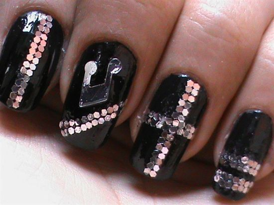 Sequin Nail Art -- Music how to do sequin  - Nail Art Gallery by NAILS Magazine