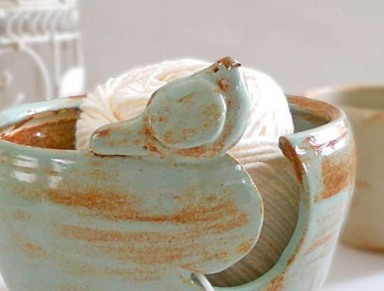 Yarn Bowl Knitting Bowl Mother's Day Gift Ceramic Yarn Bowl Bird Bowl Handmade Pottery IN PRODUCTION