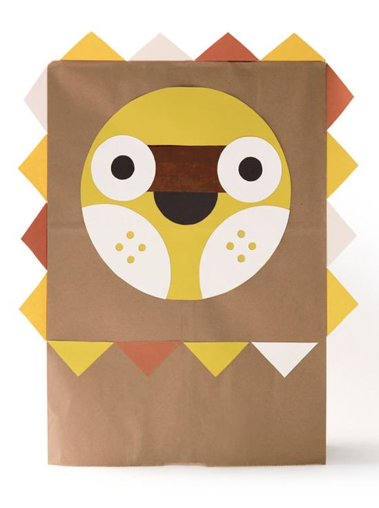 DIY Paper Bag Costume, The Jovial Jack O' Lantern - download the template for free from Wee Society