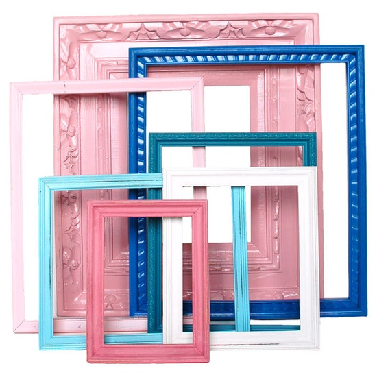 DIY Some Painted Frames - Love the Colors