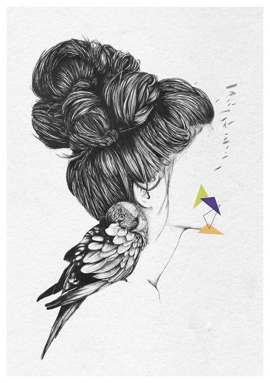 Un rêve oublié - A4 print by Cheyenne Illustration