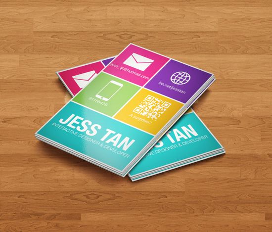 flat style business cards