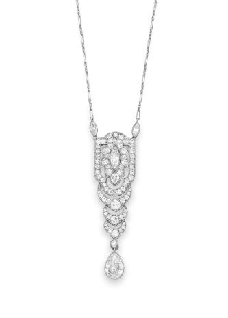 An Art Deco Diamond Pendant, By Tiffany & Co.