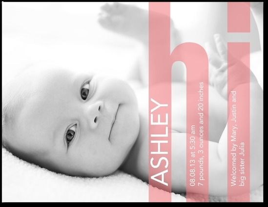 Cute! #baby announcement