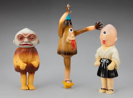 Y?kai monster figures 1968, Japanese children's toys