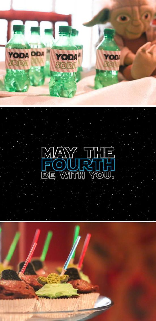Star Wars may the FOURTH be with you birthday themed party via Karas Party Ideas karaspartyideas.com #star #wars #birthday #party #ideas #idea