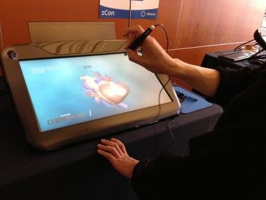 """[VIDEO] Cheap Mobile Games? Bah! Meet zSpace's $4,000 3-D Monitor; 24""""; Special 3-D glasses;"""