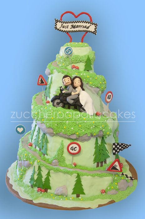"""Wedding Cake """"Our journey together"""""""