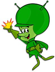 The Great Gazoo from the Flintstones.