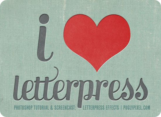 PS letterpress tutorial.